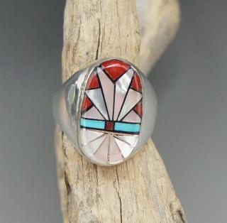 Zuni Ola Eriacho Inlay Ring