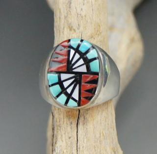 Zuni Angelena Laahty Inlay Ring