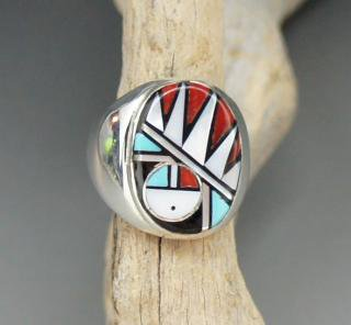 Zuni Clarence Booqua Inlay Ring