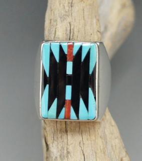 Zuni Charlotte Dishta Inlay Ring
