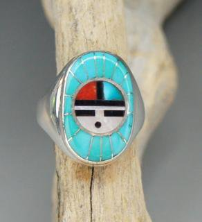 Zuni Don Dewa Inlay Ring