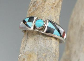 Zuni Delberta Boone Inlay Ring