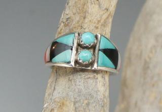 Zuni Delberta Boone Inlay Ring