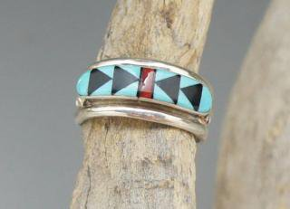 Zuni Janice Cheama Inlay Ring