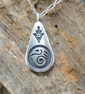 Hopi Weaver Selina Overlay Pendant