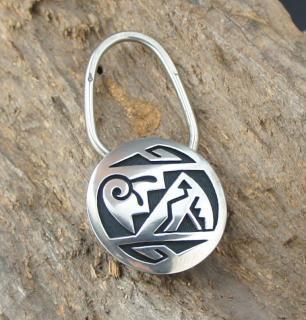 Hopi Weaver Selina Overlay Keyring