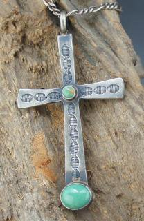 Navajo Martha Cayatineto Riversible Cross Pendant