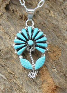 Zuni Vera Halusewa Needle Point Pendant