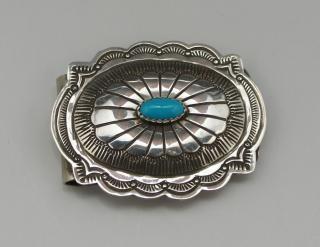 Navajo Silver Concho Money Clip