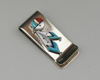 Zuni Inlay Money Clip