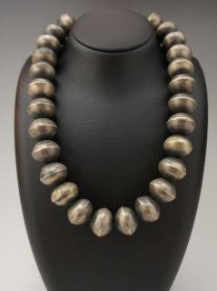 Navajo Silver Ball Beads Necklace