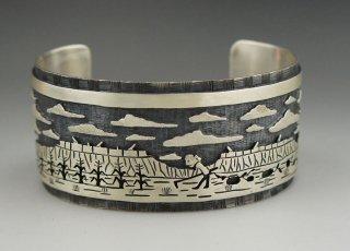 Hopi Antone Honanie Overlay Bracelet