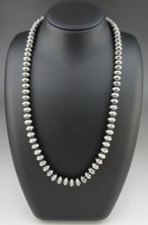 Navajo Silver Beads Necklace