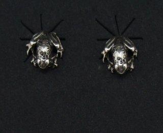 Navajo Silver Frog Earrings