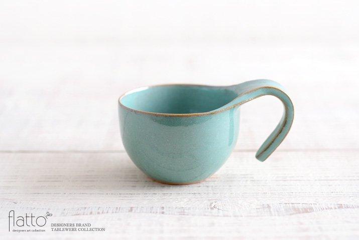 テトラ コーヒーカップ(緑) 作家「トキノハ」