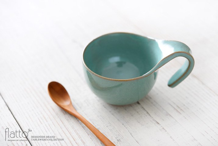 テトラ コーヒーカップ(緑) 作家「トキノハ」-02