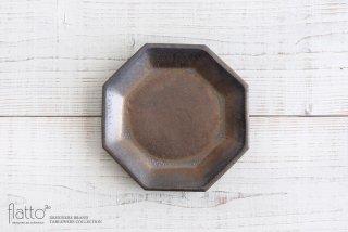 中川雅佳|金釉 八角皿(大)|和食器