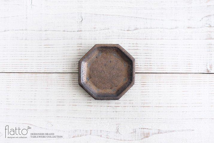 金釉 八角小皿|中川雅佳|豆皿・小皿