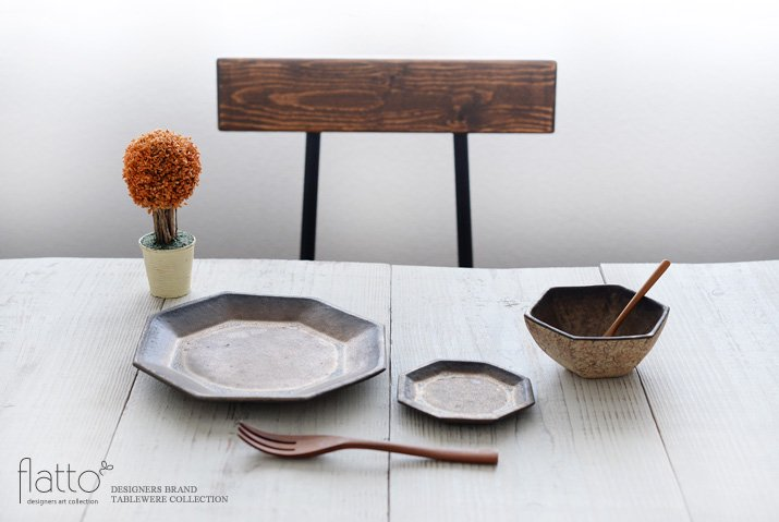 金釉 八角小皿|中川雅佳|豆皿・小皿-03