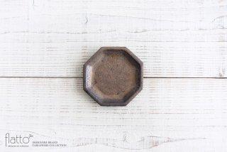 中川雅佳|金釉 八角小皿