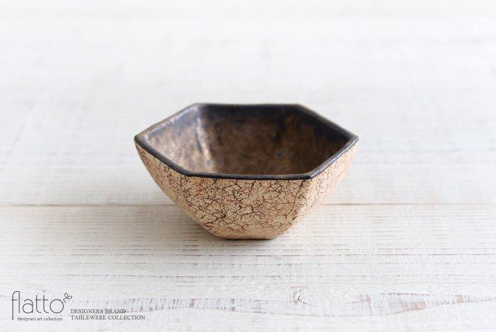 コルク 六角小鉢(内金)|中川雅佳|小鉢