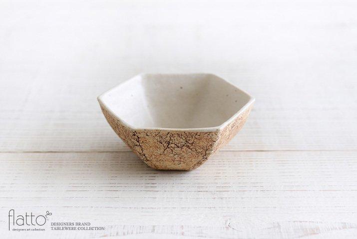 中川雅佳|コルク 六角小鉢(内白)