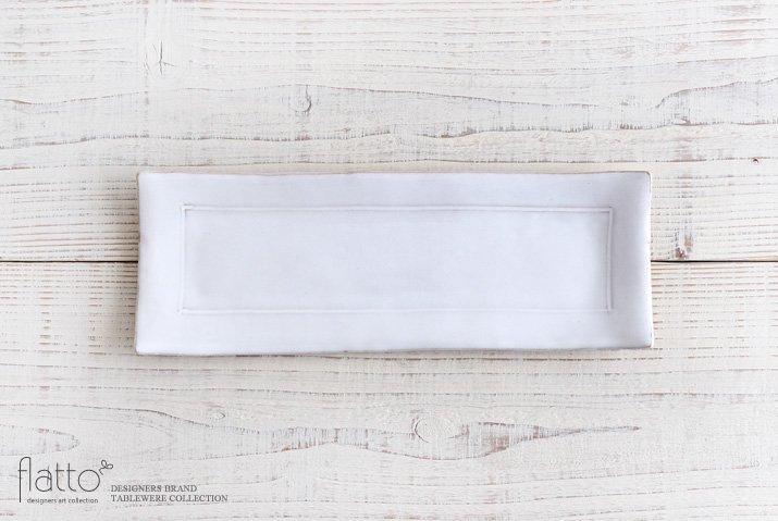 トキノハ|テトラ 長方プレート(白)