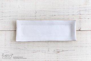 トキノハ|テトラ 長方プレート(白)|大皿|角皿