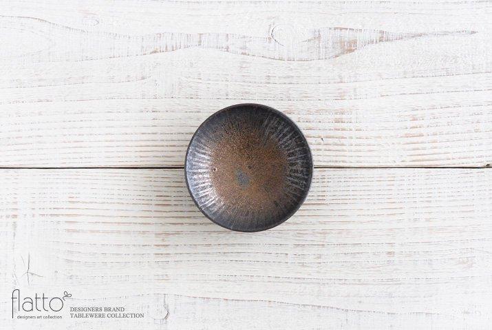 中川雅佳|金釉 しのぎ3寸皿