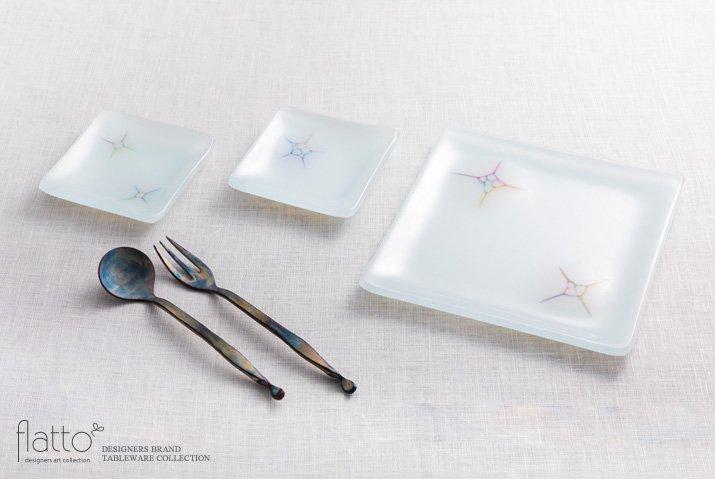 吉村桂子|イロサシ角皿(8cm角)-04