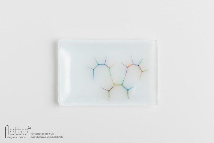 吉村桂子|イロサシ角皿(10×15cm)
