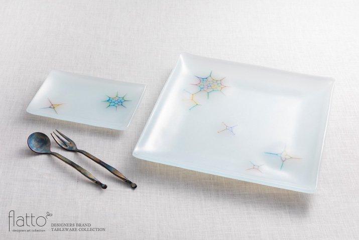 吉村桂子|イロサシ角皿(10×15cm)-04