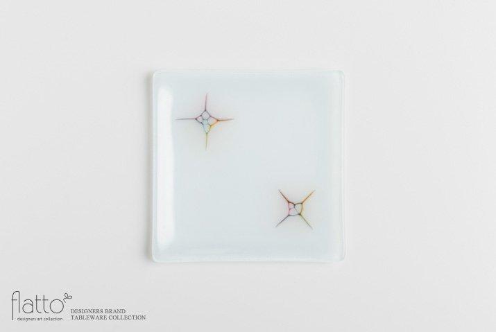 吉村桂子|イロサシ角皿(15cm角)
