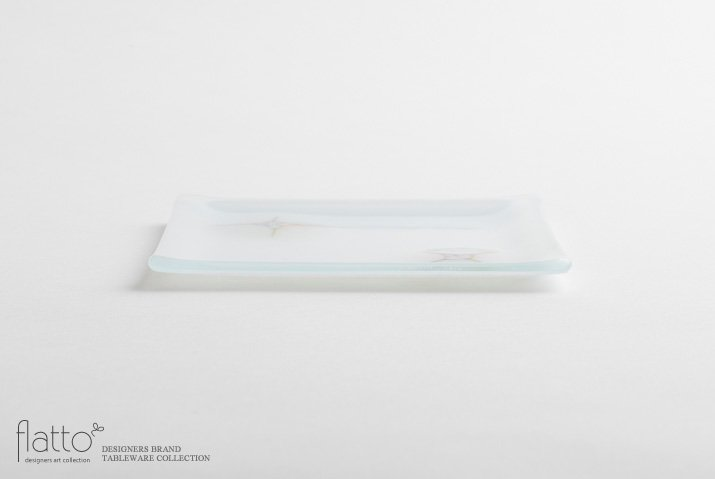 吉村桂子|イロサシ角皿(15cm角)-03