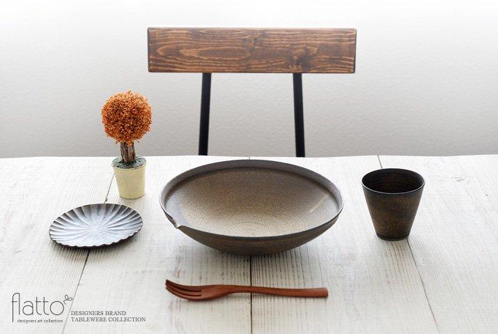 水野幸一|銅彩釉 片口鉢(大)-03
