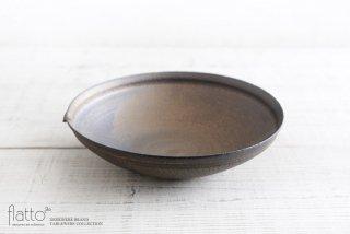 水野幸一|銅彩釉 片口鉢(大)|大鉢