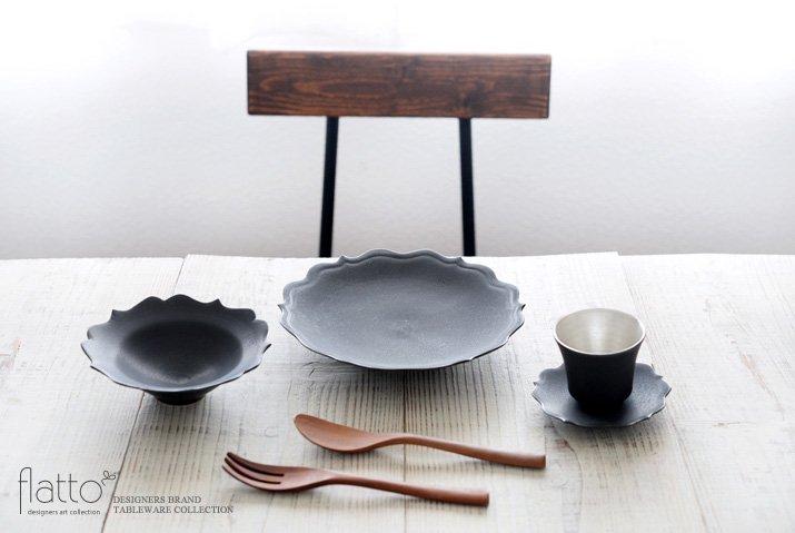 黒釉輪花小鉢 作家「木下和美」-03