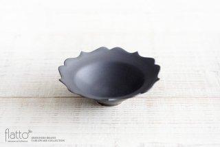 黒釉輪花小鉢 作家「木下和美」