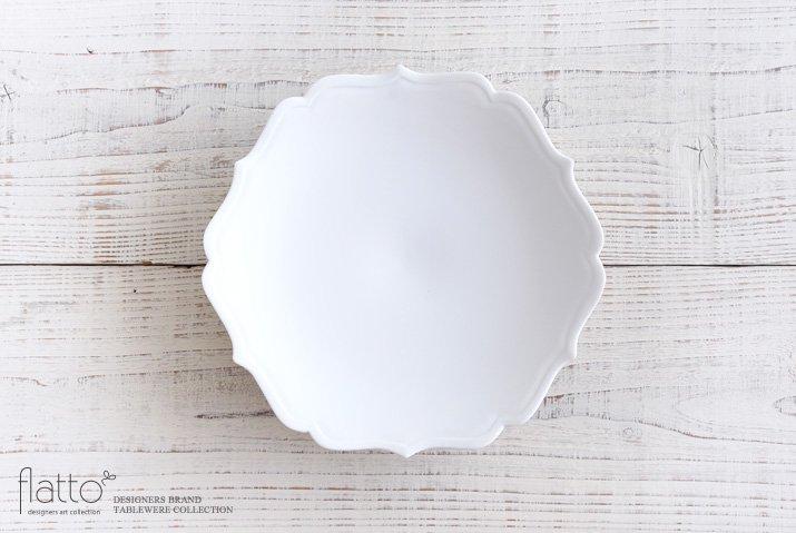 白磁輪花鉢 作家「木下和美」