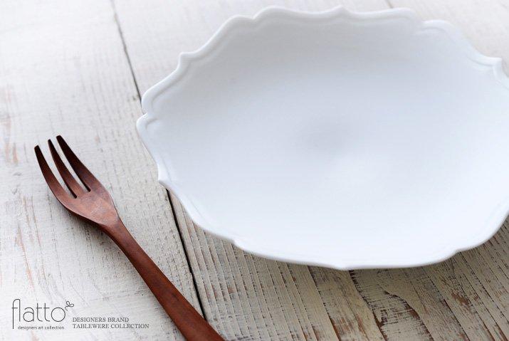 白磁輪花鉢 作家「木下和美」-02