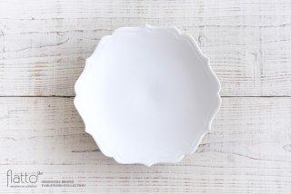木下和美|白磁輪花鉢