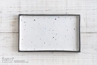 奥田章|リバーシブル角盛皿(20×32)|大皿