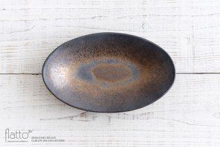 中川雅佳|金釉 舟皿