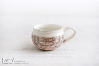 渕荒横彫コーヒーカップ 作家「古谷浩一」