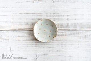 加藤祥孝|灰釉ドット紋豆皿|小皿
