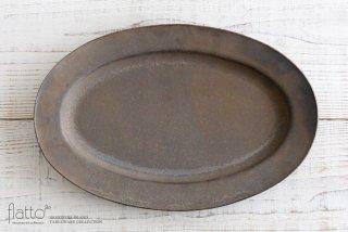 竹口要|オーバルプレート(3L・砂金)