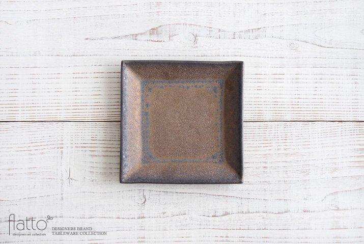 中川雅佳|金釉 正角皿