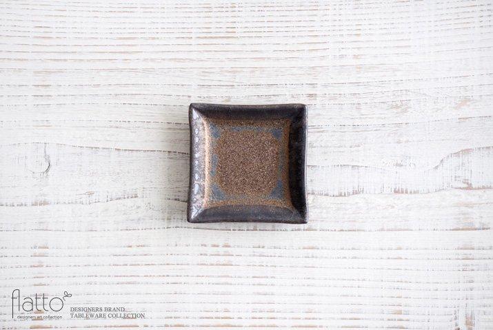 金釉 正角豆皿 作家「中川雅佳」