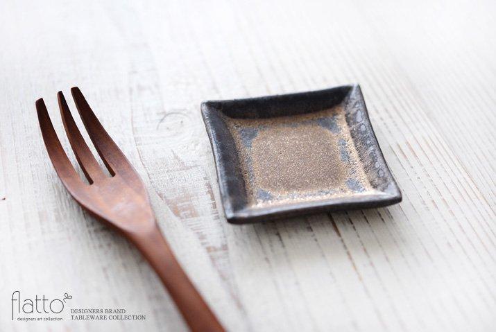 金釉 正角豆皿 作家「中川雅佳」-02