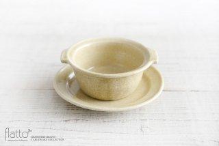 灰釉耐熱 耳付グラタン皿 和食器作家「古谷浩一」